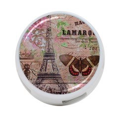 Girly Bee Crown  Butterfly Paris Eiffel Tower Fashion 4 Port Usb Hub (two Sides) by chicelegantboutique