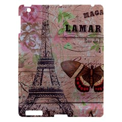 Girly Bee Crown  Butterfly Paris Eiffel Tower Fashion Apple Ipad 3/4 Hardshell Case by chicelegantboutique