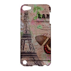 Girly Bee Crown  Butterfly Paris Eiffel Tower Fashion Apple Ipod Touch 5 Hardshell Case by chicelegantboutique