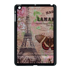 Girly Bee Crown  Butterfly Paris Eiffel Tower Fashion Apple Ipad Mini Case (black) by chicelegantboutique