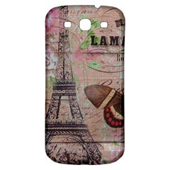 Girly Bee Crown  Butterfly Paris Eiffel Tower Fashion Samsung Galaxy S3 S Iii Classic Hardshell Back Case by chicelegantboutique