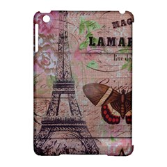 Girly Bee Crown  Butterfly Paris Eiffel Tower Fashion Apple iPad Mini Hardshell Case (Compatible with Smart Cover)