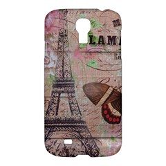 Girly Bee Crown  Butterfly Paris Eiffel Tower Fashion Samsung Galaxy S4 I9500/i9505 Hardshell Case by chicelegantboutique