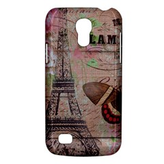 Girly Bee Crown  Butterfly Paris Eiffel Tower Fashion Samsung Galaxy S4 Mini Hardshell Case  by chicelegantboutique