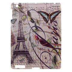 Paris Eiffel Tower Vintage Bird Butterfly French Botanical Art Apple Ipad 3/4 Hardshell Case by chicelegantboutique