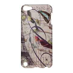 Paris Eiffel Tower Vintage Bird Butterfly French Botanical Art Apple Ipod Touch 5 Hardshell Case by chicelegantboutique