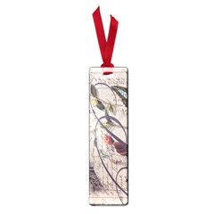 Paris Eiffel Tower Vintage Bird Butterfly French Botanical Art Small Bookmark by chicelegantboutique