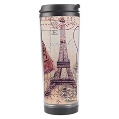 White Peacock Paris Eiffel Tower Vintage Bird Butterfly French Botanical Art Travel Tumbler by chicelegantboutique