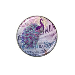 French Scripts  Purple Peacock Floral Paris Decor Golf Ball Marker 10 Pack (for Hat Clip) by chicelegantboutique