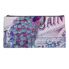 French Scripts  Purple Peacock Floral Paris Decor Pencil Case by chicelegantboutique
