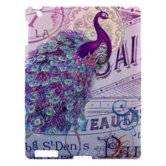 French Scripts  Purple Peacock Floral Paris Decor Apple Ipad 3/4 Hardshell Case by chicelegantboutique