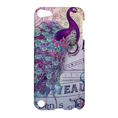 French Scripts  Purple Peacock Floral Paris Decor Apple Ipod Touch 5 Hardshell Case by chicelegantboutique