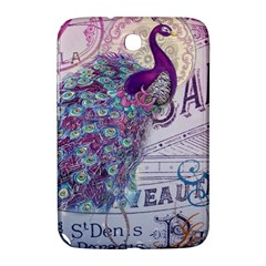 French Scripts  Purple Peacock Floral Paris Decor Samsung Galaxy Note 8 0 N5100 Hardshell Case  by chicelegantboutique
