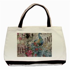 French Vintage Chandelier Blue Peacock Floral Paris Decor Classic Tote Bag by chicelegantboutique