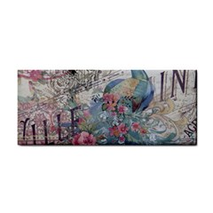 French Vintage Chandelier Blue Peacock Floral Paris Decor Hand Towel by chicelegantboutique