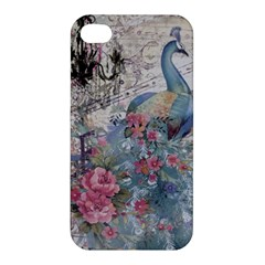 French Vintage Chandelier Blue Peacock Floral Paris Decor Apple Iphone 4/4s Hardshell Case by chicelegantboutique