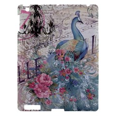 French Vintage Chandelier Blue Peacock Floral Paris Decor Apple Ipad 3/4 Hardshell Case by chicelegantboutique