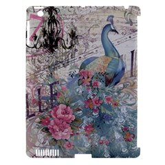 French Vintage Chandelier Blue Peacock Floral Paris Decor Apple Ipad 3/4 Hardshell Case (compatible With Smart Cover) by chicelegantboutique