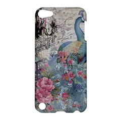 French Vintage Chandelier Blue Peacock Floral Paris Decor Apple Ipod Touch 5 Hardshell Case by chicelegantboutique