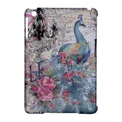 French Vintage Chandelier Blue Peacock Floral Paris Decor Apple Ipad Mini Hardshell Case (compatible With Smart Cover) by chicelegantboutique