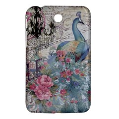 French Vintage Chandelier Blue Peacock Floral Paris Decor Samsung Galaxy Tab 3 (7 ) P3200 Hardshell Case  by chicelegantboutique