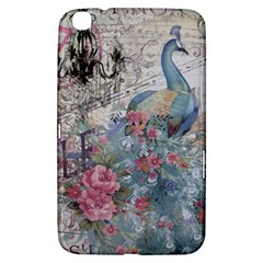 French Vintage Chandelier Blue Peacock Floral Paris Decor Samsung Galaxy Tab 3 (8 ) T3100 Hardshell Case  by chicelegantboutique