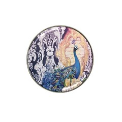 Damask French Scripts  Purple Peacock Floral Paris Decor Golf Ball Marker 4 Pack (for Hat Clip) by chicelegantboutique