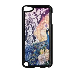 Damask French Scripts  Purple Peacock Floral Paris Decor Apple Ipod Touch 5 Case (black) by chicelegantboutique
