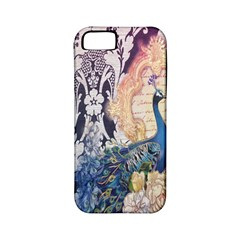 Damask French Scripts  Purple Peacock Floral Paris Decor Apple Iphone 5 Classic Hardshell Case (pc+silicone) by chicelegantboutique