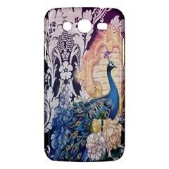 Damask French Scripts  Purple Peacock Floral Paris Decor Samsung Galaxy Mega 5 8 I9152 Hardshell Case  by chicelegantboutique