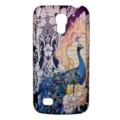 Damask French Scripts  Purple Peacock Floral Paris Decor Samsung Galaxy S4 Mini Hardshell Case  by chicelegantboutique