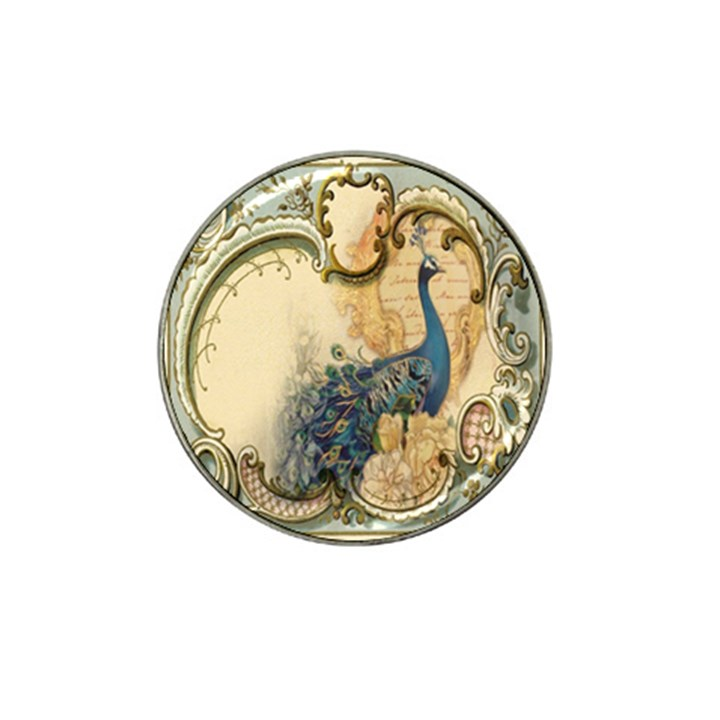 Victorian Swirls Peacock Floral Paris Decor Golf Ball Marker (for Hat Clip)