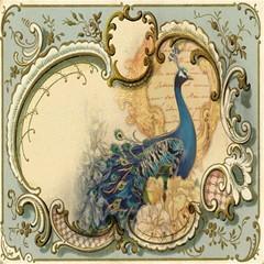Victorian Swirls Peacock Floral Paris Decor Canvas 16  X 16  (unframed) by chicelegantboutique