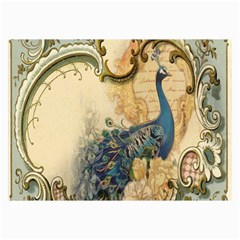 Victorian Swirls Peacock Floral Paris Decor Canvas 24  X 36  (unframed) by chicelegantboutique