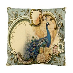Victorian Swirls Peacock Floral Paris Decor Cushion Case (single Sided)  by chicelegantboutique