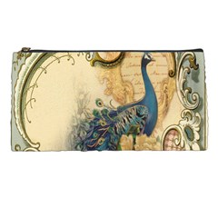 Victorian Swirls Peacock Floral Paris Decor Pencil Case by chicelegantboutique