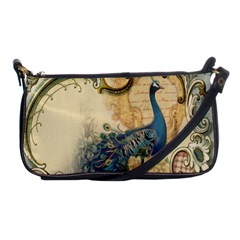 Victorian Swirls Peacock Floral Paris Decor Evening Bag by chicelegantboutique