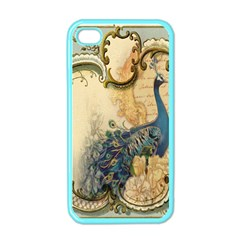 Victorian Swirls Peacock Floral Paris Decor Apple Iphone 4 Case (color) by chicelegantboutique