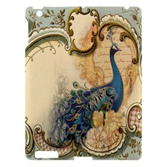 Victorian Swirls Peacock Floral Paris Decor Apple Ipad 3/4 Hardshell Case by chicelegantboutique