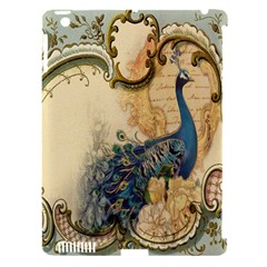Victorian Swirls Peacock Floral Paris Decor Apple Ipad 3/4 Hardshell Case (compatible With Smart Cover) by chicelegantboutique
