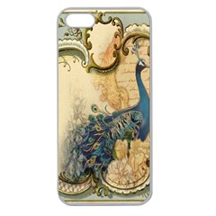 Victorian Swirls Peacock Floral Paris Decor Apple Seamless Iphone 5 Case (clear) by chicelegantboutique