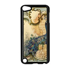 Victorian Swirls Peacock Floral Paris Decor Apple Ipod Touch 5 Case (black) by chicelegantboutique