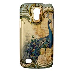 Victorian Swirls Peacock Floral Paris Decor Samsung Galaxy S4 Mini Hardshell Case  by chicelegantboutique