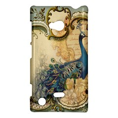 Victorian Swirls Peacock Floral Paris Decor Nokia Lumia 720 Hardshell Case by chicelegantboutique
