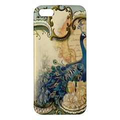 Victorian Swirls Peacock Floral Paris Decor Iphone 5s Premium Hardshell Case by chicelegantboutique