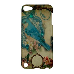 Victorian Girly Blue Bird Vintage Damask Floral Paris Eiffel Tower Apple Ipod Touch 5 Hardshell Case by chicelegantboutique