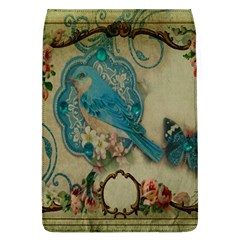 Victorian Girly Blue Bird Vintage Damask Floral Paris Eiffel Tower Removable Flap Cover (Large) by chicelegantboutique