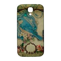 Victorian Girly Blue Bird Vintage Damask Floral Paris Eiffel Tower Samsung Galaxy S4 I9500/i9505  Hardshell Back Case by chicelegantboutique