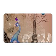 Modern Butterfly  Floral Paris Eiffel Tower Decor Magnet (rectangular) by chicelegantboutique