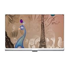 Modern Butterfly  Floral Paris Eiffel Tower Decor Business Card Holder by chicelegantboutique